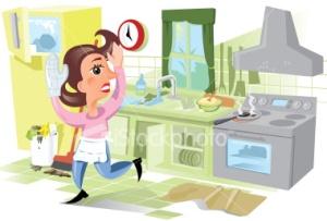 mom kitchen disaster
